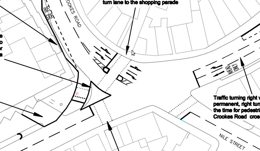 Broomhill preliminary junction design - approved without any consideration being given to people on bicycles